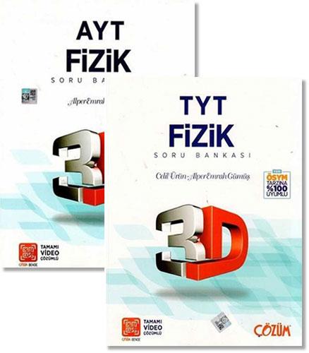 Çözüm Yayınları – TYT ve AYT 3D Fizik Soru Bankaları – Celil Ürün, Alper Emrah Gümüş